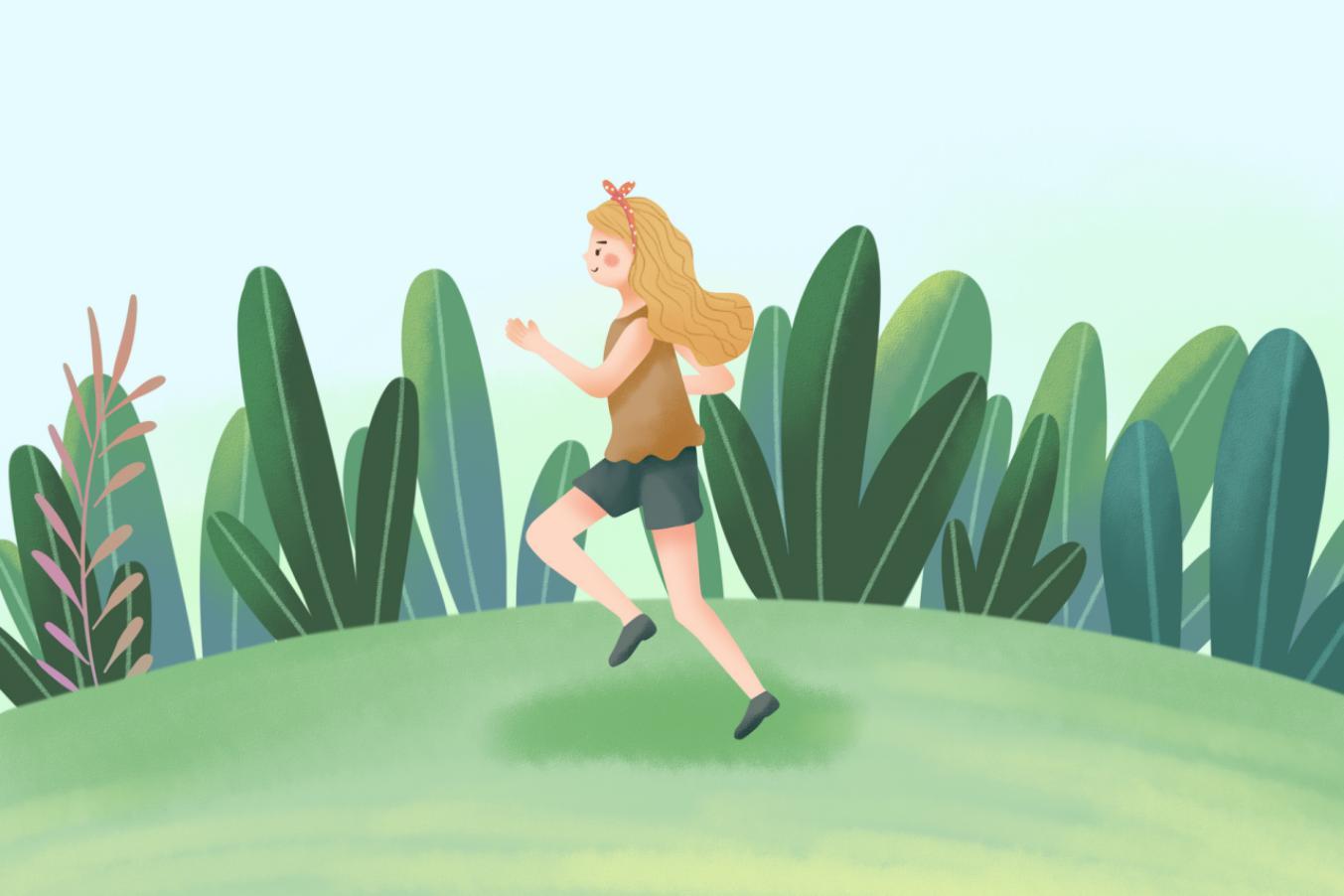 摄图网_400159544_女生跑步健身(非企业商用)