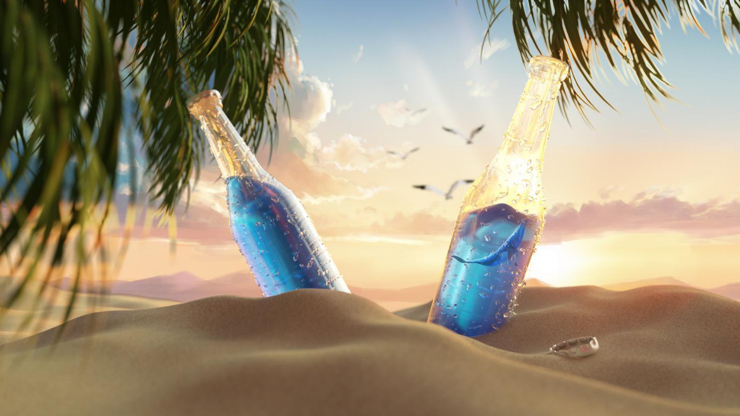 摄图网_401749083_banner_夏日创意沙滩饮料(非企业商用)